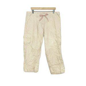 Willi Smith Tan Khaki Cargo High Rise Cropped Pant